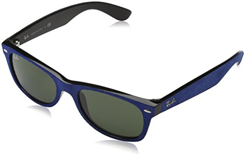 Ray-Ban Women's New Wayfarer Square Sunglasses, Black-Blue, 52 mm