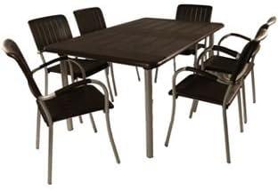 Nardi Maestrale Table Avec 6 Chaises Musa Cafe Amazon Fr Jardin