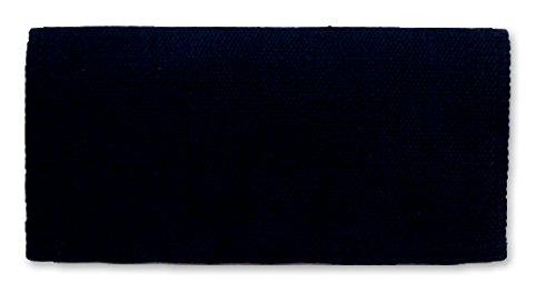 Mayatex San Juan Solid Saddle Blanket, Navy Blue, 36 x 34-Inch (Horse Blue Navy Blanket)