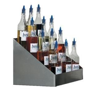 Shave Ice Bottle Rack, tiered, holds 20 #1059 shave ice flavor bottles, 13-1/2
