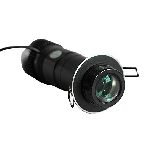10W LED GOBO Projector Advertising Logo Light Embedded Black Desktop or Mountable LED Custom Image GOBO Logo Projector Light (with Custom 1 Color Static Glass Gobos)