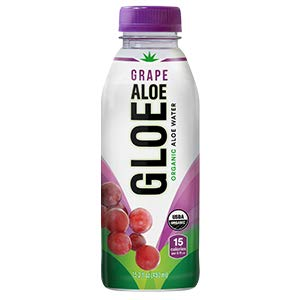 ALOE GLOE Organic Aloe Water, 15.2-Ounce (Grape Aloe)