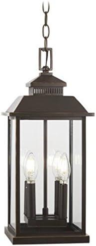 Minka Lavery Outdoor Pendant Lighting 72594-143C Miner s Loft, 4-Light 160 Watts, Oil Rubbed Bronze