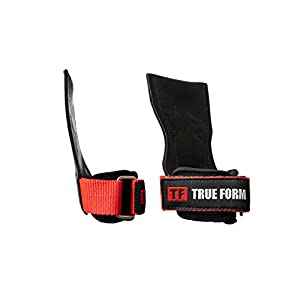 True Form Grips Weight Lifting Gloves Heavy Duty Straps Alternative Power Lifting Hooks Best for Deadlifts Adjustable Neoprene Padded Wrist Wraps Support Bodybuilding Crossfit Pro Workout