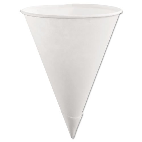 Rubbermaid Paper Cone Cups, 6oz, White, 200/Pack, 12 Pack...