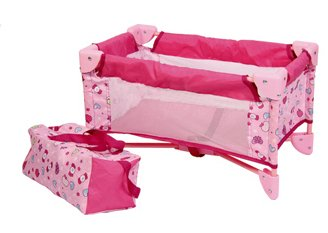 Liberty Imports Baby Doll Bed Playpen Furniture Playset for Dolls