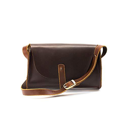 Leather Crossbody Purse for Women, Leather Shoulder Bag-Medium Brown