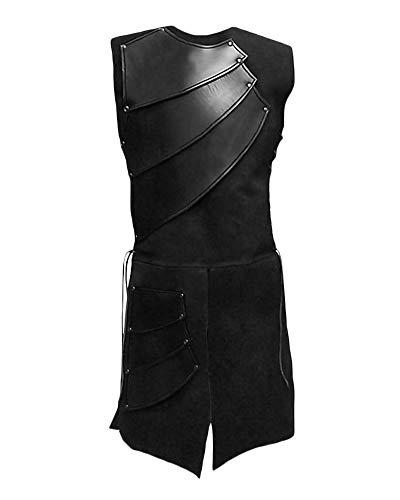 Renacentista Traje De Negro Escenario Sin De Equipo Hombres para Chaleco Chalecos Medieval Mangas 8qOx8rv
