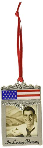 Cathedral Art CO744 Patriotic Picture Photo Frame Memorial Ornament, 1-3/4-Inch