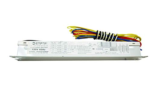 [해외]Espen 3 또는 4 램프 T8 전자식 안정기: VE432120MIP / Espen 3 or 4 Lamp T8 Electronic Ballast: VE432120MIP