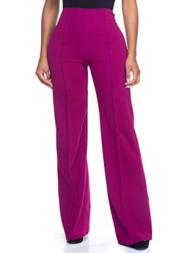 - Women's J2 Love High Waist Bell Bottom Flare Pants, Small, Berry