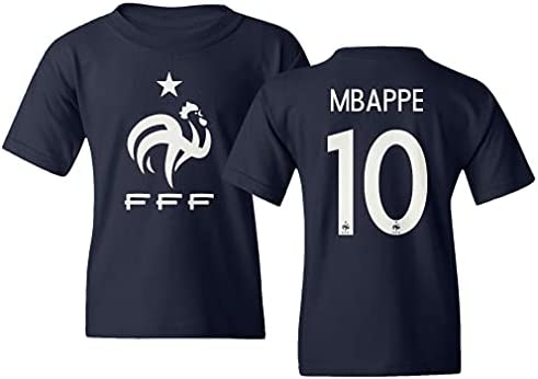 Spark Apparel European Soccer 2020 France #10 Kylian MBAPPE Jersey Style Youth T-Shirt