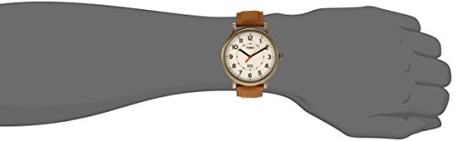 Fossil Men's FS5328 The Commuter Three-Hand Date Light Brown Leather Watch
