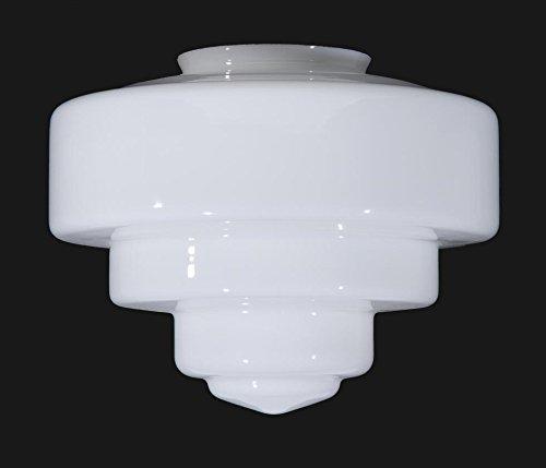 B&P Lamp 13 1/2'' Tiered Opal Glass Art Deco Shade
