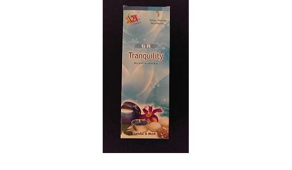 TRANQUILITY 6 Boxes of 20 = 120 GR Incense Sticks Bulk Case Retail Display Box