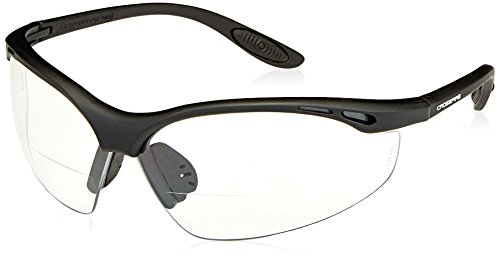 Crossfire 12415 Talon Bi-Focal Reader Safety Glasses 1.5 Diopter Clear Lens - Matte Black - Bifocal Readers Glasses Safety