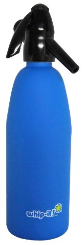 Whip-It 1-Liter Soda Siphon, Rubber Coated, Blue by Whip-it!