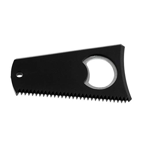 Black Surfboard Wax Comb Wax Remover Surfing Accessories with Keychain Hole