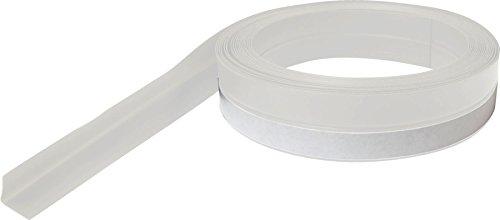 WJ Dennis & Company 7VW Self-Adhesive V-Shaped Polypropylene Seal, 7/8-Inch x 17-Foot, White