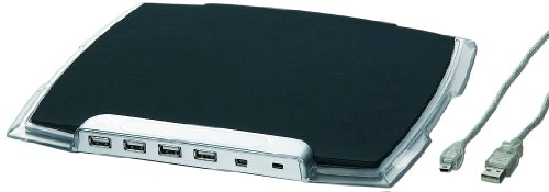 Gembird UHB-MP-224 Mouse Pad with Built-in 4 Port Lighted USB Hub