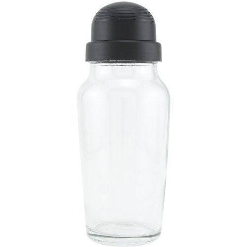 Libbey Glass Cocktail Shaker with Black Lid - 19.75 oz