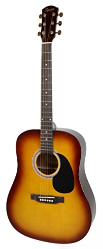 Fender Squier Dreadnought Acoustic Guitar - Sunburst Bundle with Fender Play Online Lessons, Gig Bag, Tuner, Strings, Strap, Picks, and Austin Bazaar Instructional DVD by Fender (Image #3)