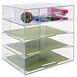 Innovative Storage Designs Desktop Organizer, 6 Compartments, Clear