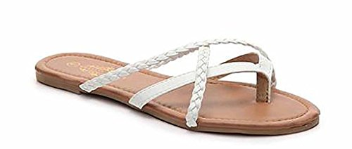 Charles Albert Women's Selene Strap Multi Sandal In White Braided Size: - Marcjacobs Sale