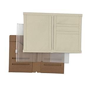 3-Pack Travelers Notebook Inserts - Oxford Fabric Pocket/Kraft File Folder/Transparent Zipper Pouch - Standard Size(8.25 x 4.3) Erlvery DaMain