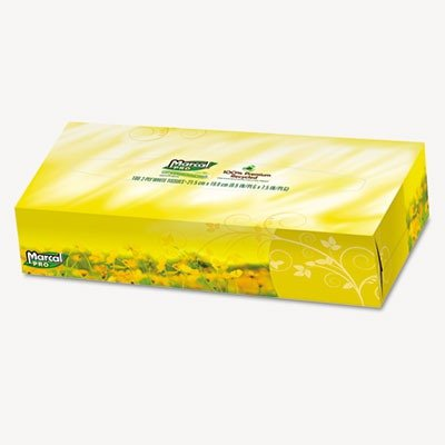 043032000297 - Marcal PRO 100% Premium Recycled Convenience Pack Facial Tissue 100 Sheets per Box carousel main 0