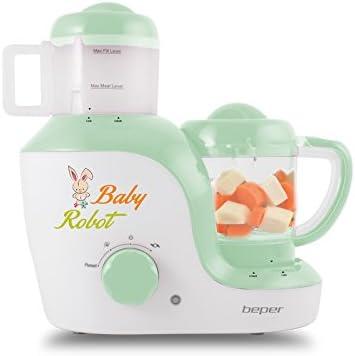 BEPER Baby Chef Robot de Cocina Multiuso, ABS, Blanco/Verde, 31 x 19 x 23.5 cm: Amazon.es: Hogar