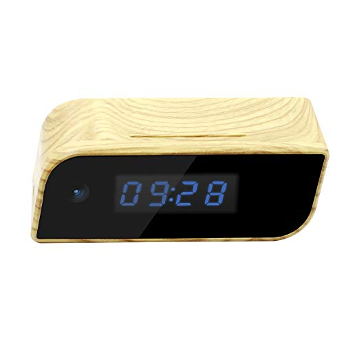 Beenwoon Hidden Camera Alarm Clock, Full HD 1080P Spy Camera with Motion Detectio, Night Vision, Wide Viewing Angle, P2P Connected