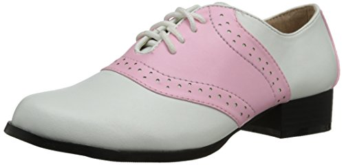 Ellie Shoes Women's 105-saddle, Pink/White, 7 M -