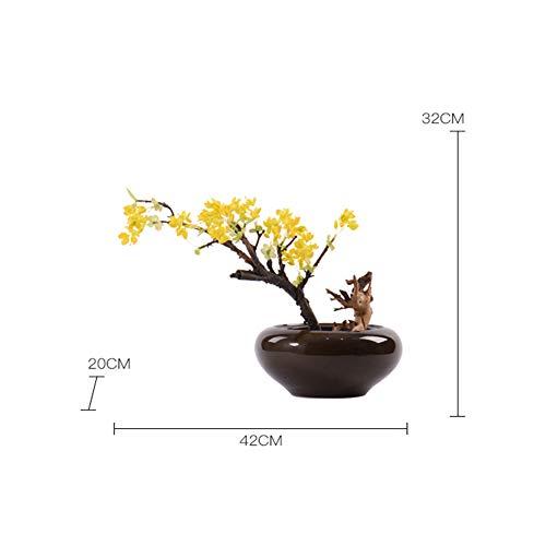 CITW Simple Art Yellow Fruit Tree Bonsai Bonsai Desktop Ornaments Modern Minimalist Home Furnishing OrnamentsOffice Gift by CITW (Image #6)