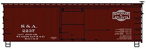 Accurail 1309 HO Scale 36' Double Sheath Wood Boxcar Savannah & Atlanta ()