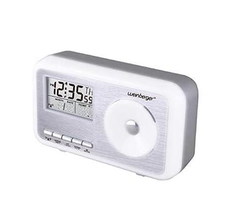 La salida del sol Mebus controlado por radio con termómetro, reloj de pared, reloj digital, despertador controlado por radio: Amazon.es: Hogar