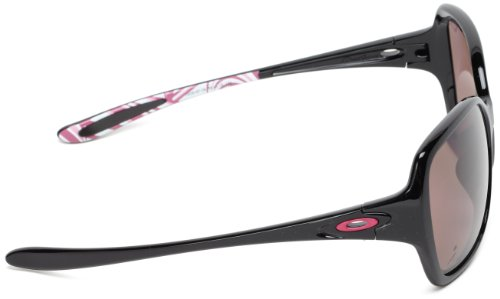 oakley womens sunglasses breast cancer  oakley overtime womens polarised sunglasses breast cancer polished black /oo grey polarised polished black pola: amazon.co.uk: sports & outdoors
