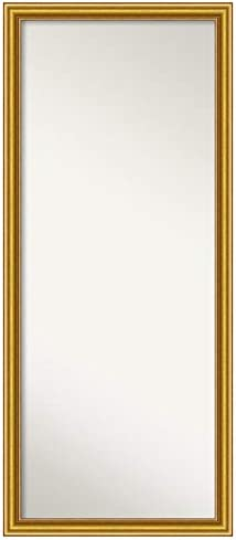 Amanti Art Framed Townhouse Gold Solid Wood Wall Mirrors , Glass Size 58 x 23