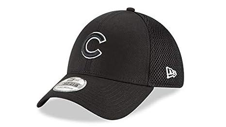 e26f21326 New Era Chicago Cubs Fitted 39Thirty MLB Curve Brim Baseball Cap 3930