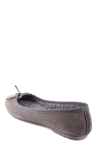 Twin Set Damen MCBI302164O Grau Leder Ballerinas