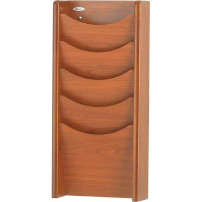 SAF4330CY - Safco Solid Wood Wall-Mount Literature Display (Safco Wall Mount)