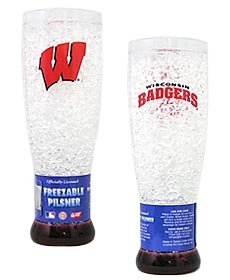 (Duck House Wisconsin Badgers NCAA Crystal Pilsner Glass)
