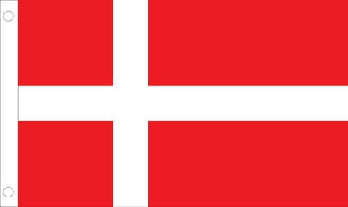 Allied Flag Outdoor Nylon Denmark Country Flag, 3-Feet by 5-Feet