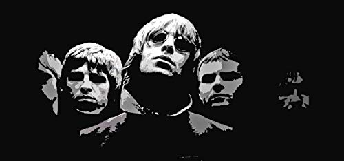 Oasis Rock Band Britpop Liam Gallagher Noel Gallagher Paul Guigsy McGuigan Tony McCarroll Alan White Gem Archer Andy Bell Singer Musician 12 x 18 Inch Quoted Multicolour Rolled ()