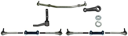 NEW 71-72 GM A-BODY MANUAL STEERING KIT WITH PITMAN ARM, IDLER ARM, CENTER LINK, TIE ROD ENDS, ADJUSTER SLEEVES, 1971, 1972 CHEVELLE, EL CAMINO, CUTLASS, GTO, ETC. (Manual Steering Pitman Arm)