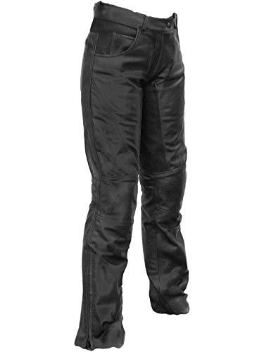 Pantalones Black Piel Carolina Mujer X Standard Richa De Para wpAqCIpF