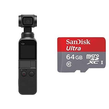 【国内正規品】 DJI OSMO POCKET (3軸ジンバル, 4Kカメラ) + SanDisk ウルトラ microSDカード 64GB [SDSQUNA-064G-GHENA]