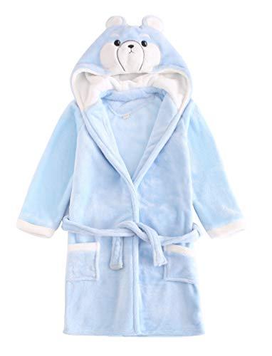 ABClothing Cute Kids Boys Girls Bathrobe Luxury Towelling Hooded Dressing Gown Soft Fine Comfortable Nightwear Terry Towel Bath Robe Lounge Wear Housecoat