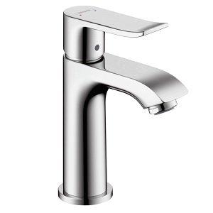 Hansgrohe 31088001 Metris 100 Single-Hole Faucet with Glory Glaze Cleaner and Polish, Chrome