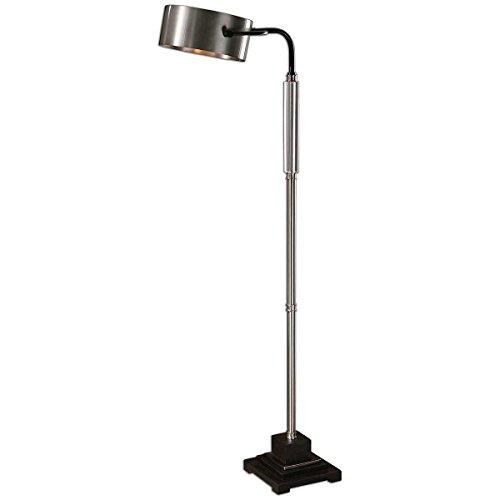 Aluminum Cylinder Floor Lamp (Uttermost 28589-1 Belding Modern Floor)